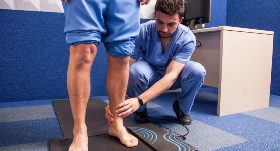 A podiatric doctor at an affordable Los Angeles clinic.
